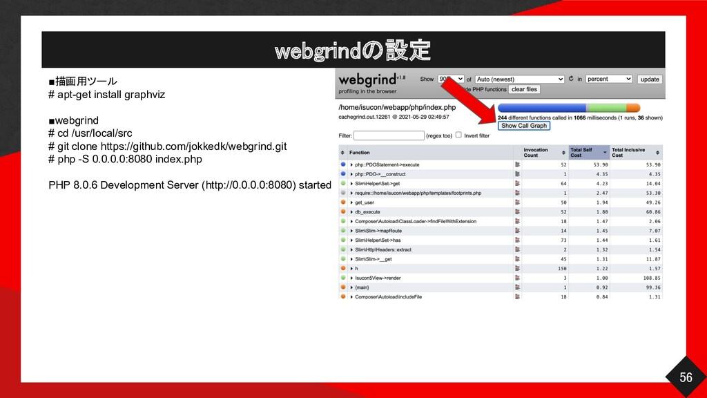 ■描画用ツール # apt-get install graphviz ■webgrind # ...