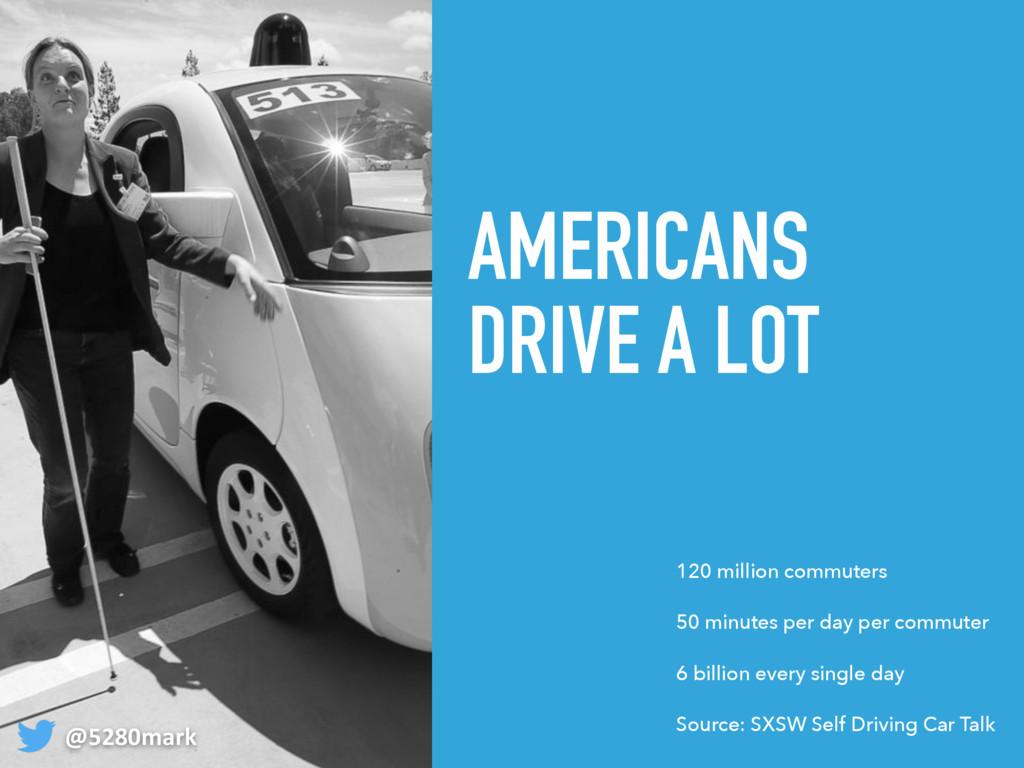 AMERICANS DRIVE A LOT @5280mark 120 million com...