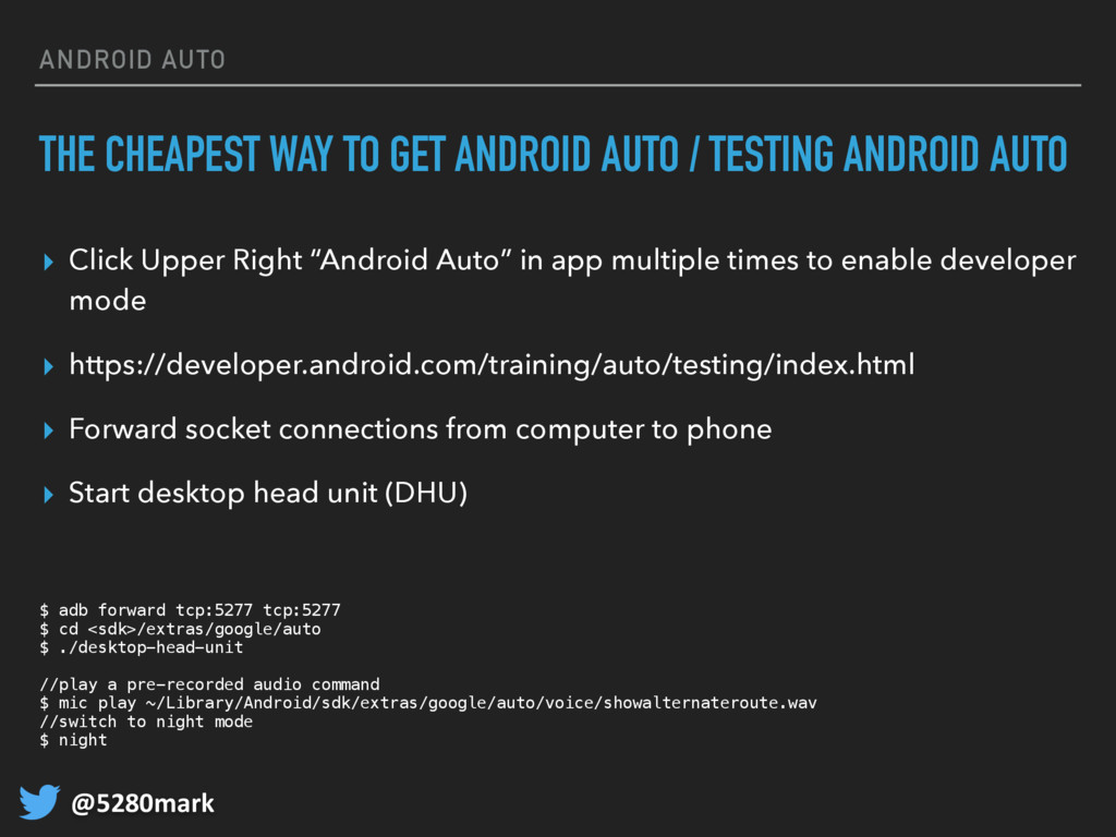 @5280mark ANDROID AUTO THE CHEAPEST WAY TO GET ...