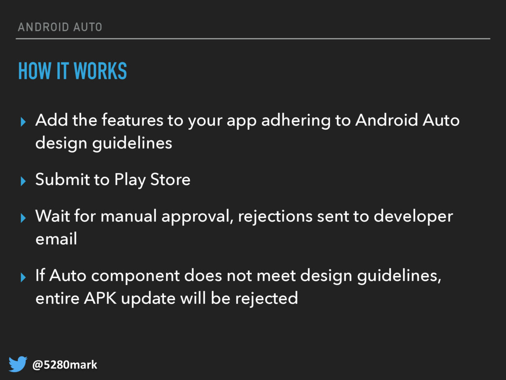 @5280mark ANDROID AUTO HOW IT WORKS ▸ Add the f...