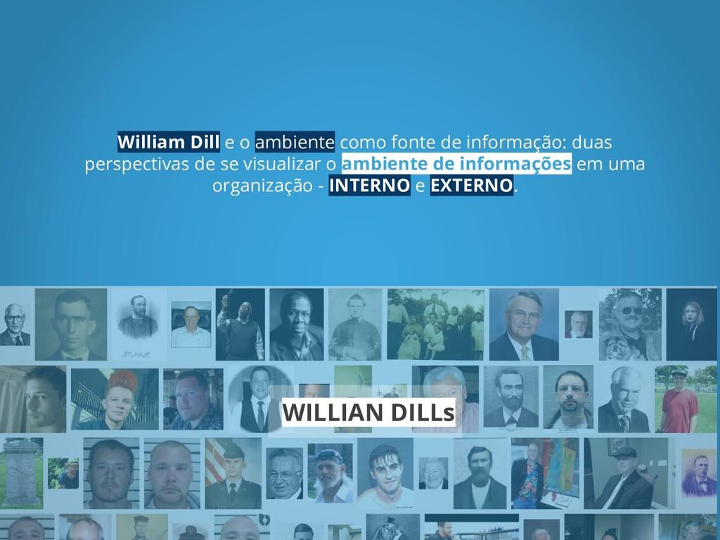 William Dill e o ambiente como fonte de informa...