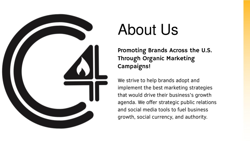About Us Promoting Brands Across the U.S. Throu...