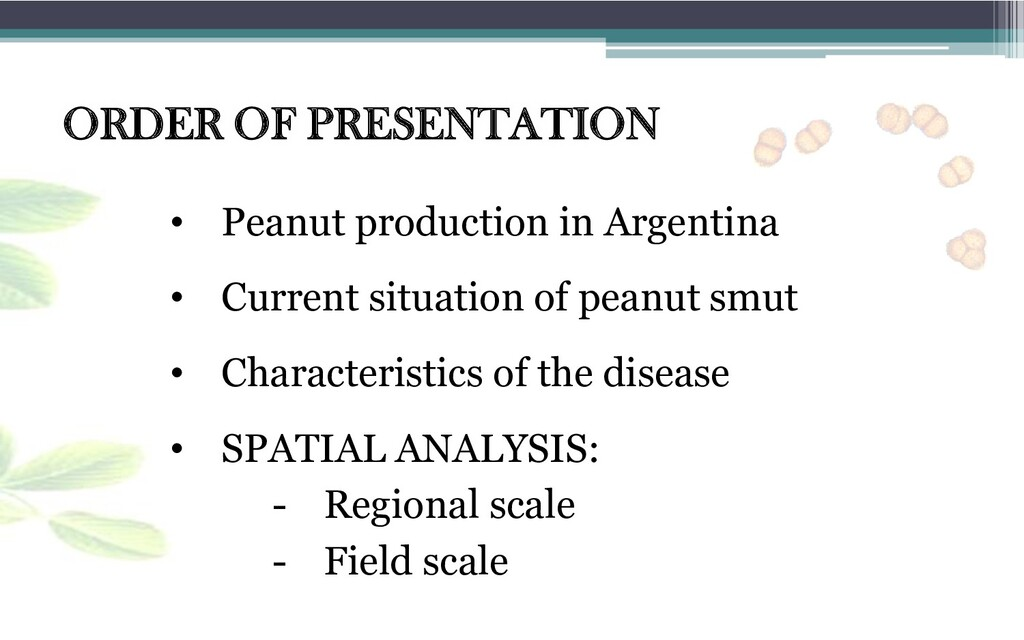 • Peanut production in Argentina • Characterist...