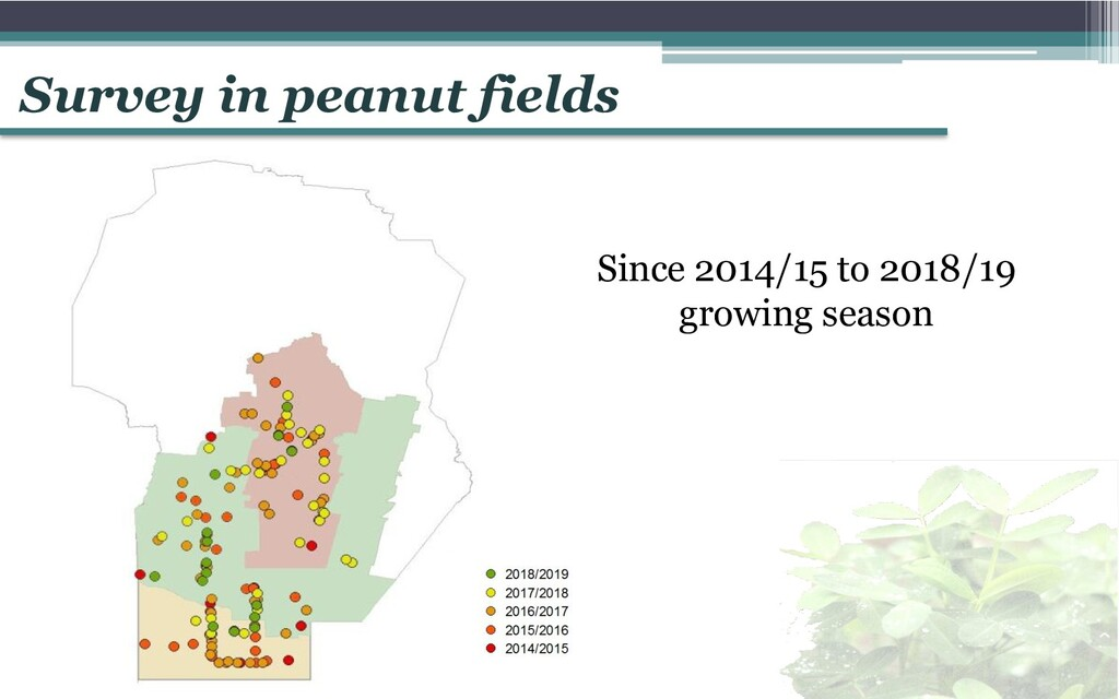 Since 2014/15 to 2018/19 growing season Survey ...