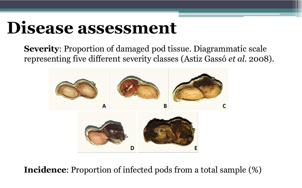 Disease assessment Incidence: Proportion of inf...