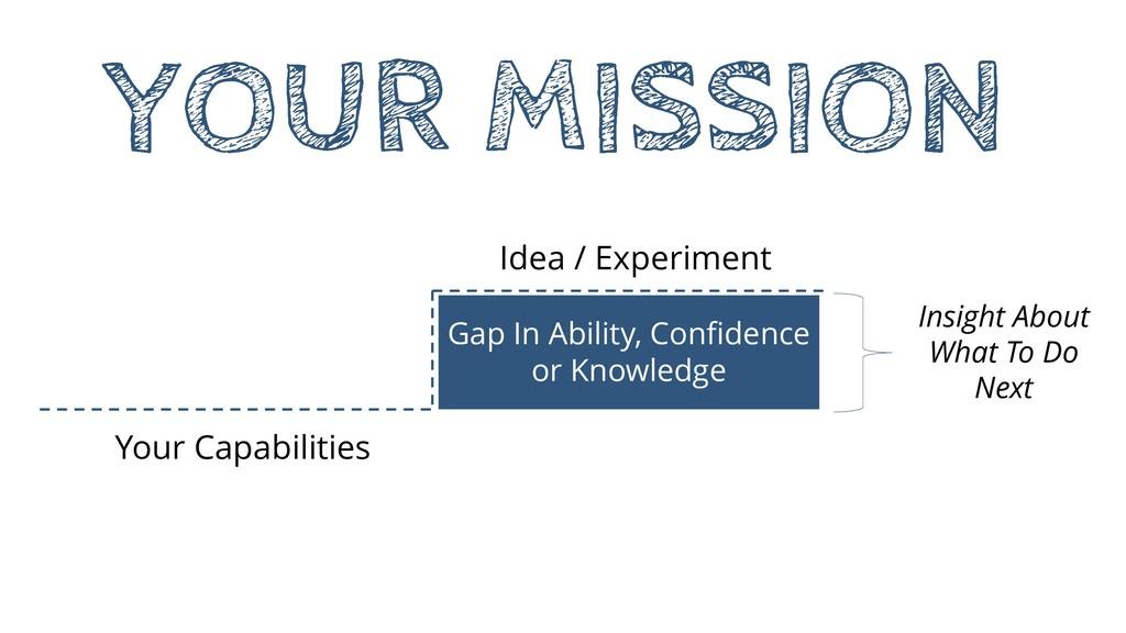 Idea / Experiment Your Capabilities Gap In Abil...