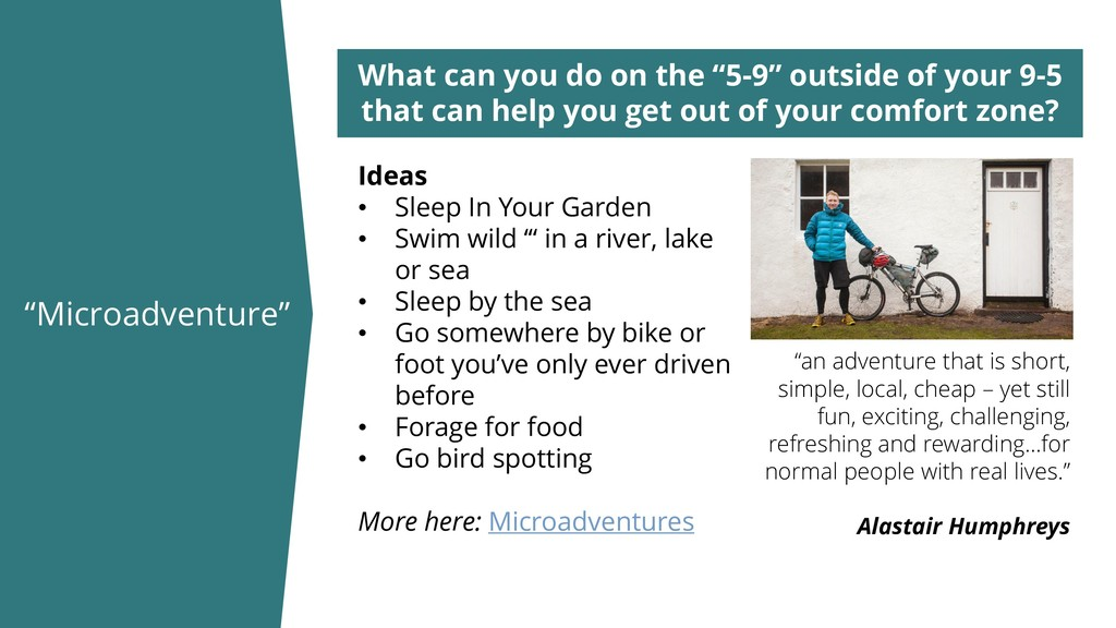 """""""Microadventure"""" What can you do on the """"5-9"""" o..."""
