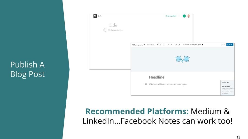 Publish A Blog Post 13 Recommended Platforms: M...