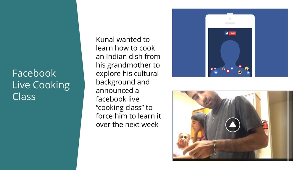 Facebook Live Cooking Class Kunal wanted to lea...