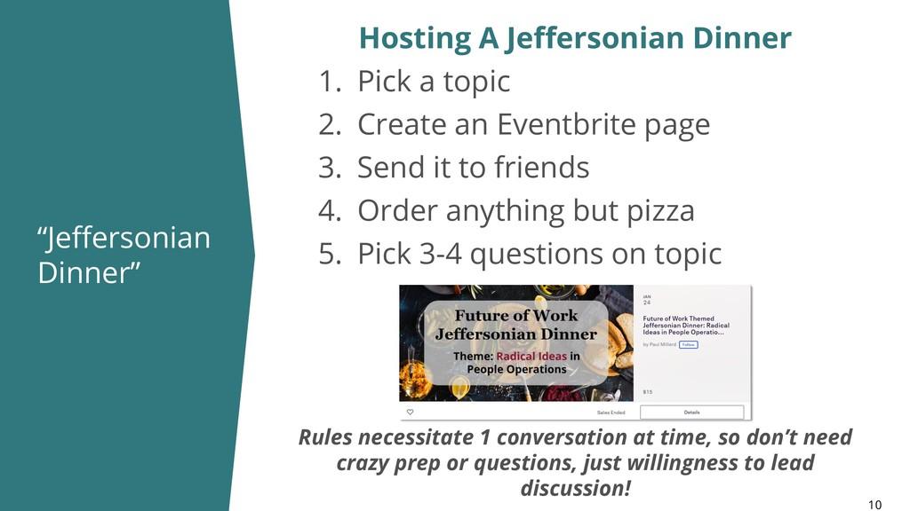 """""""Jeffersonian Dinner"""" 10 Hosting A Jeffersonian..."""
