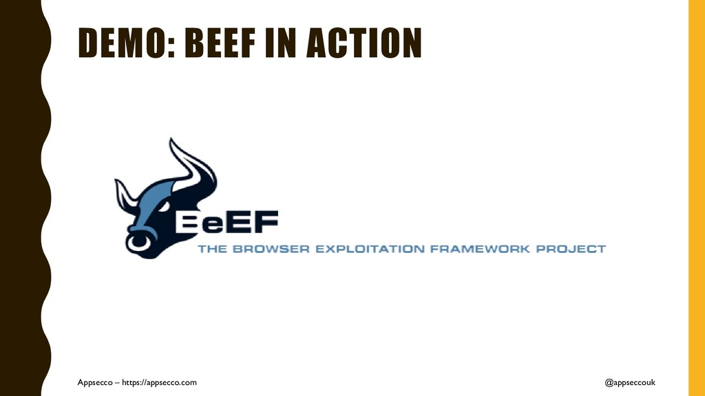 DEMO: BEEF IN ACTION Appsecco – https://appsecc...