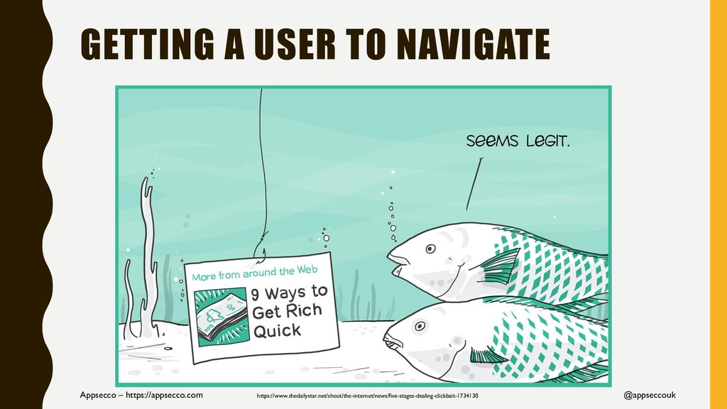 GETTING A USER TO NAVIGATE Appsecco – https://a...