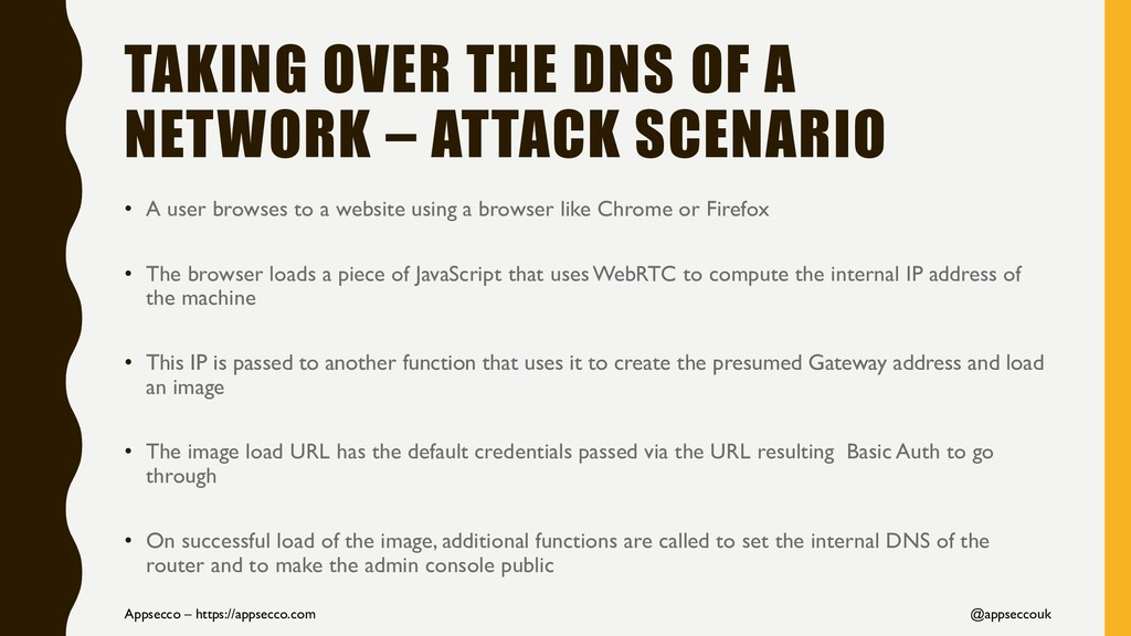 TAKING OVER THE DNS OF A NETWORK – ATTACK SCENA...