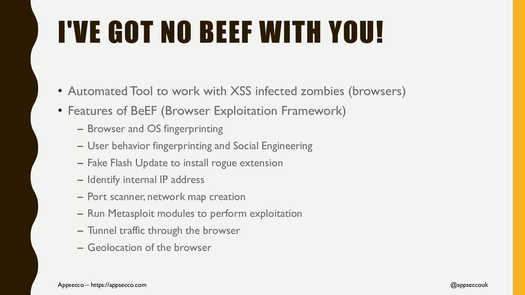 I'VE GOT NO BEEF WITH YOU! • Automated Tool to ...