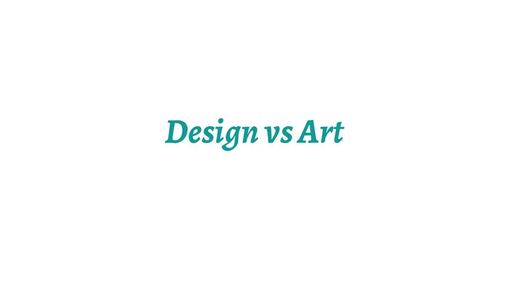 Design vs Art