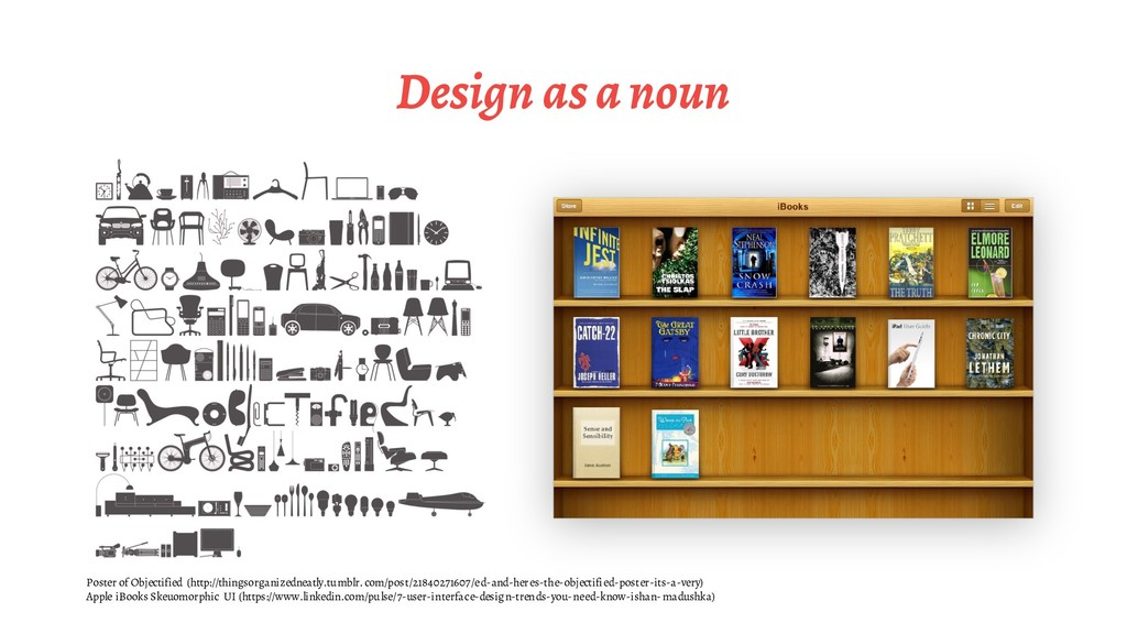 Design as a noun Poster of Objectified (http://...
