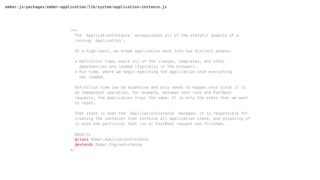 /** The `ApplicationInstance` encapsulates all ...