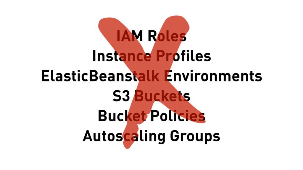 IAM Roles Instance Profiles ElasticBeanstalk En...
