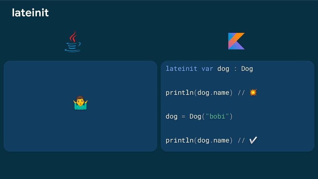 lateinit var dog : Dog println(dog.name) //  do...