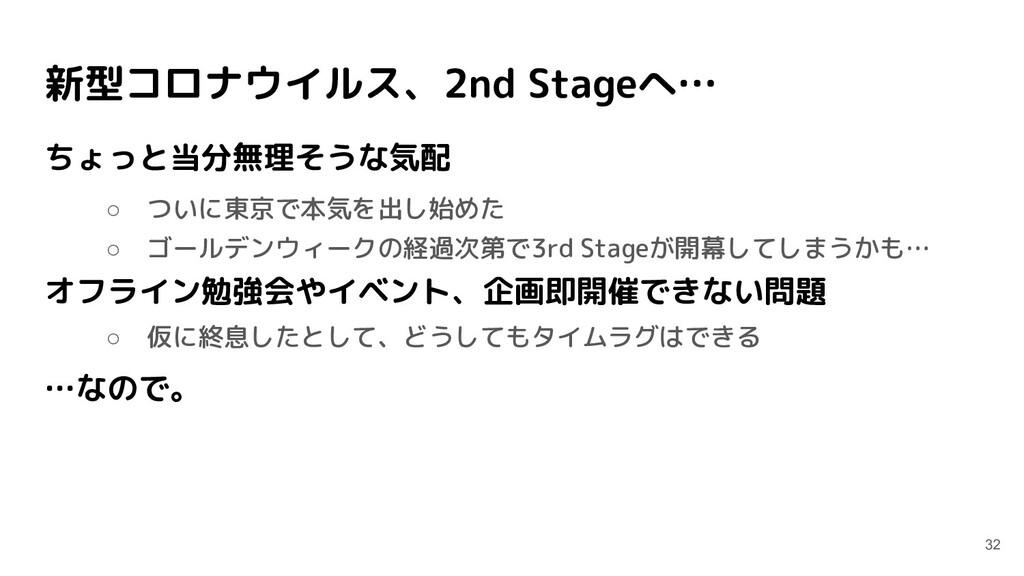 新型コロナウイルス、2nd Stageへ… ちょっと当分無理そうな気配 ○ ついに東京で本気を...