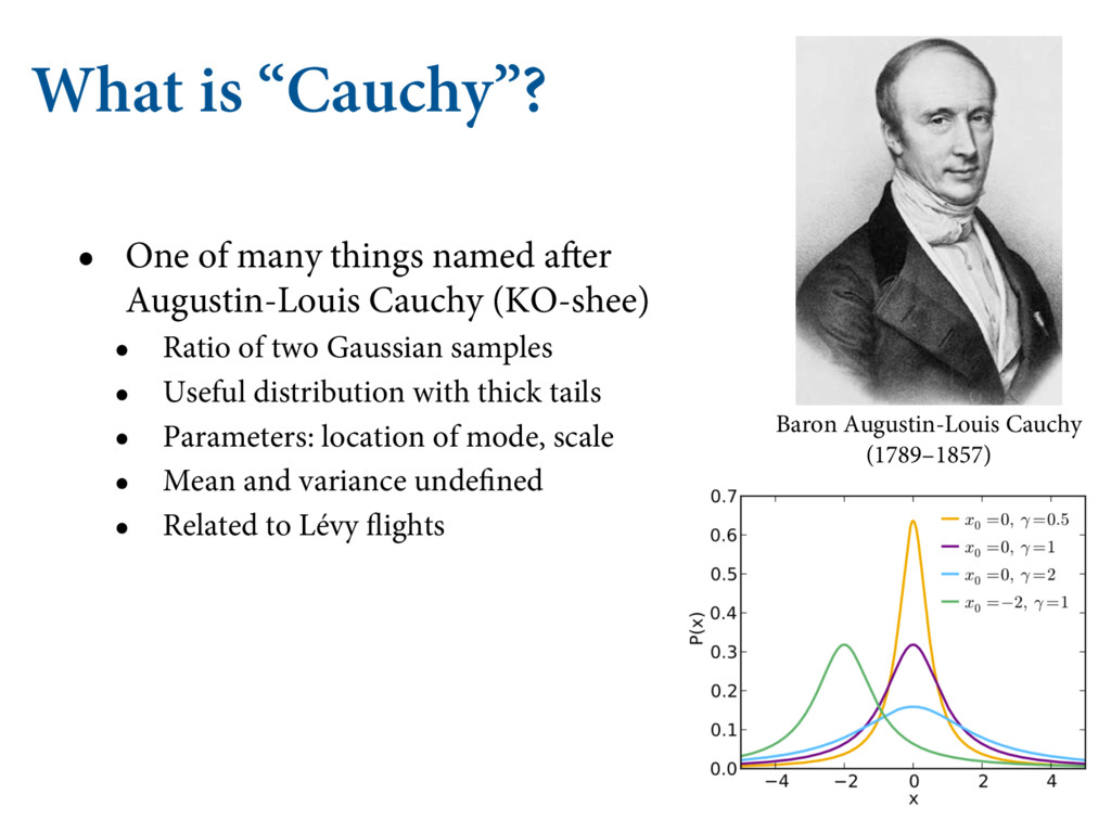 """What is """"Cauchy""""? • One of many things named af..."""