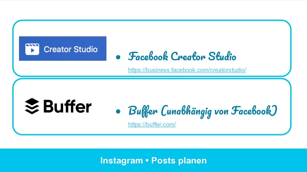 Instagram • Posts planen ● Facebook Creator St...