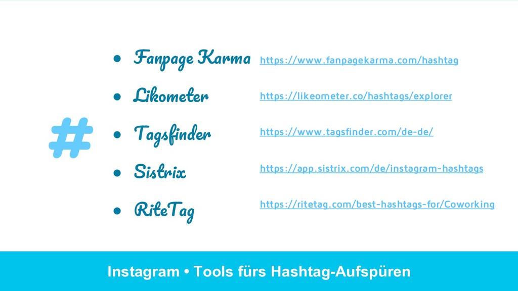Instagram • Tools fürs Hashtag-Aufspüren ● Fan...