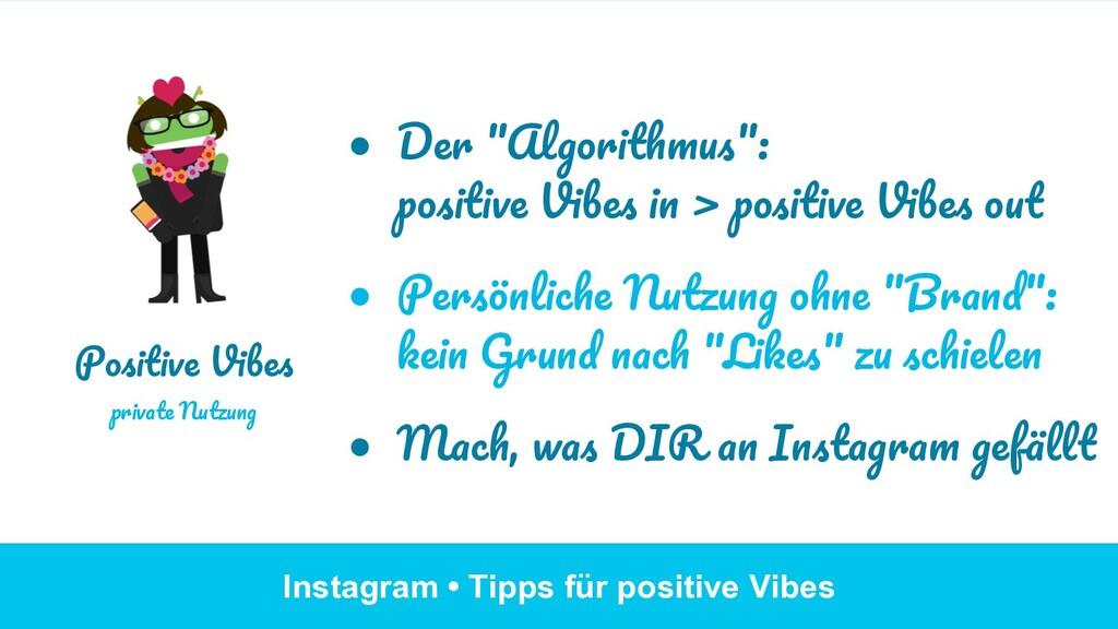 """Instagram • Tipps für positive Vibes ● Der """"Al..."""