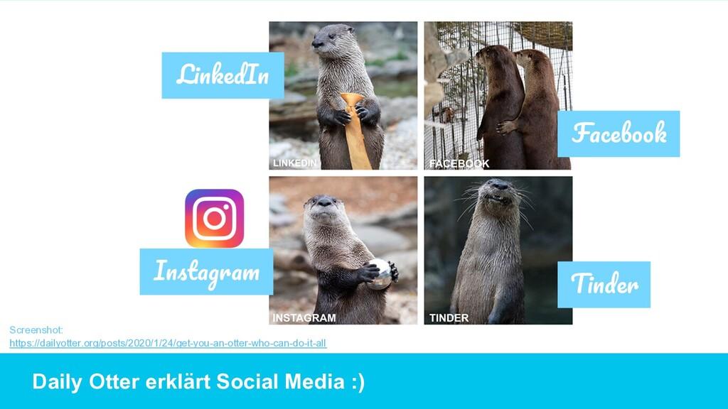 Daily Otter erklärt Social Media :) Screenshot:...