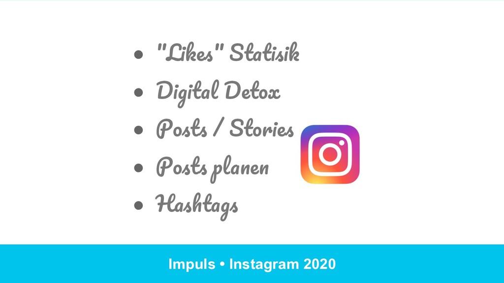 "Impuls • Instagram 2020 ● ""Likes"" Statisik ● ..."