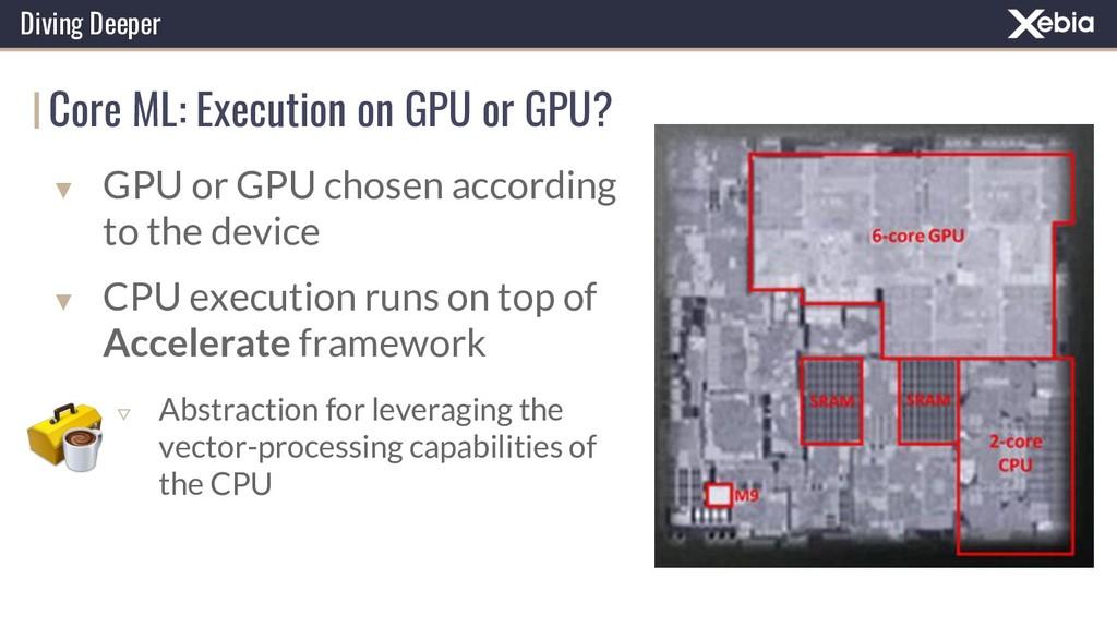 Core ML: Execution on GPU or GPU? Diving Deeper...