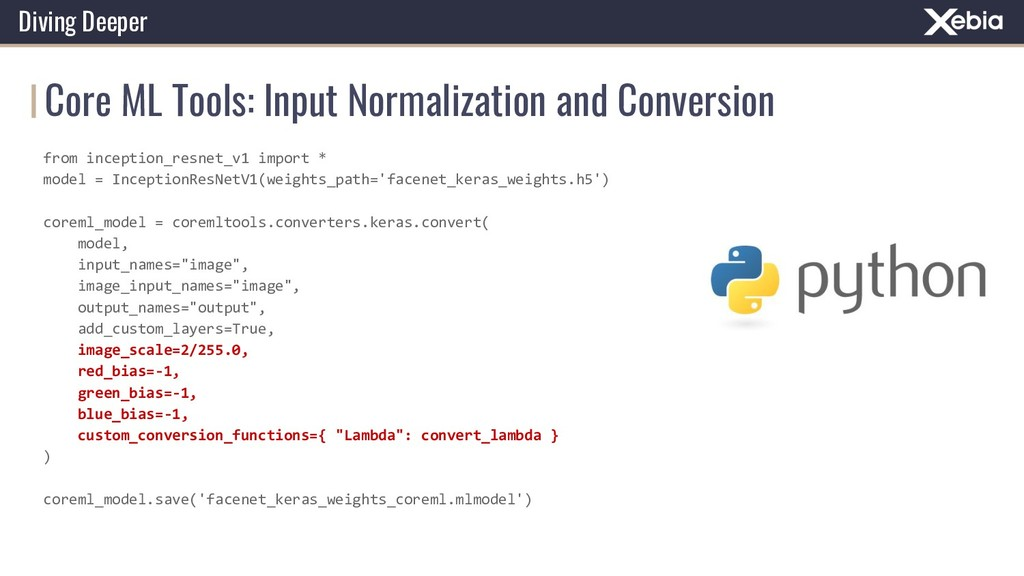Core ML Tools: Input Normalization and Conversi...