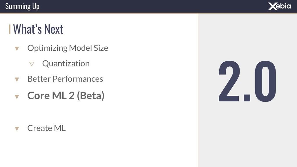Summing Up What's Next ▼ Optimizing Model Size ...