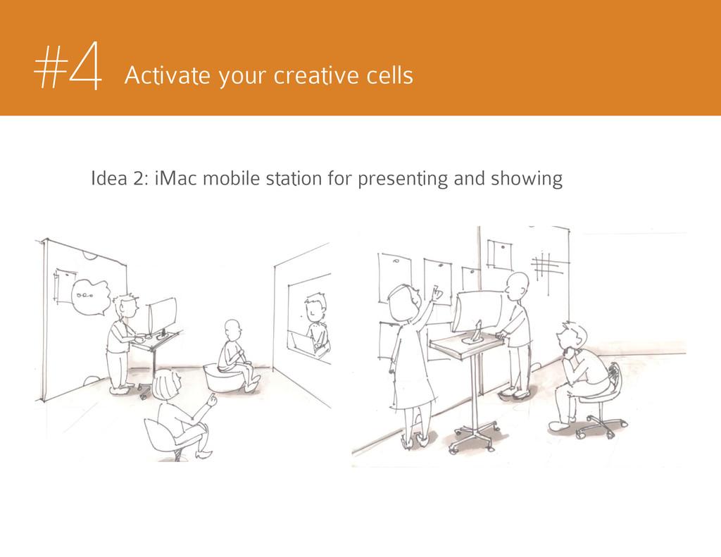 #4 Activate your creative cells Idea 2: iMac mo...