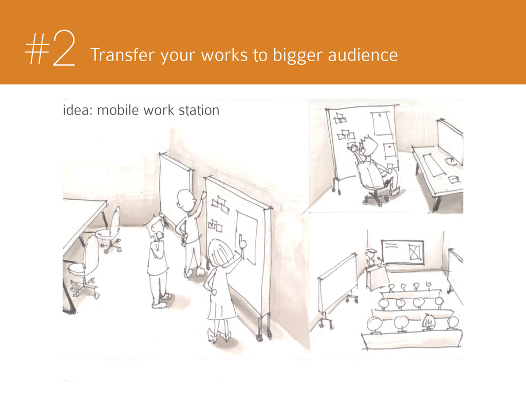 #2 Transfer your works to bigger audience idea:...