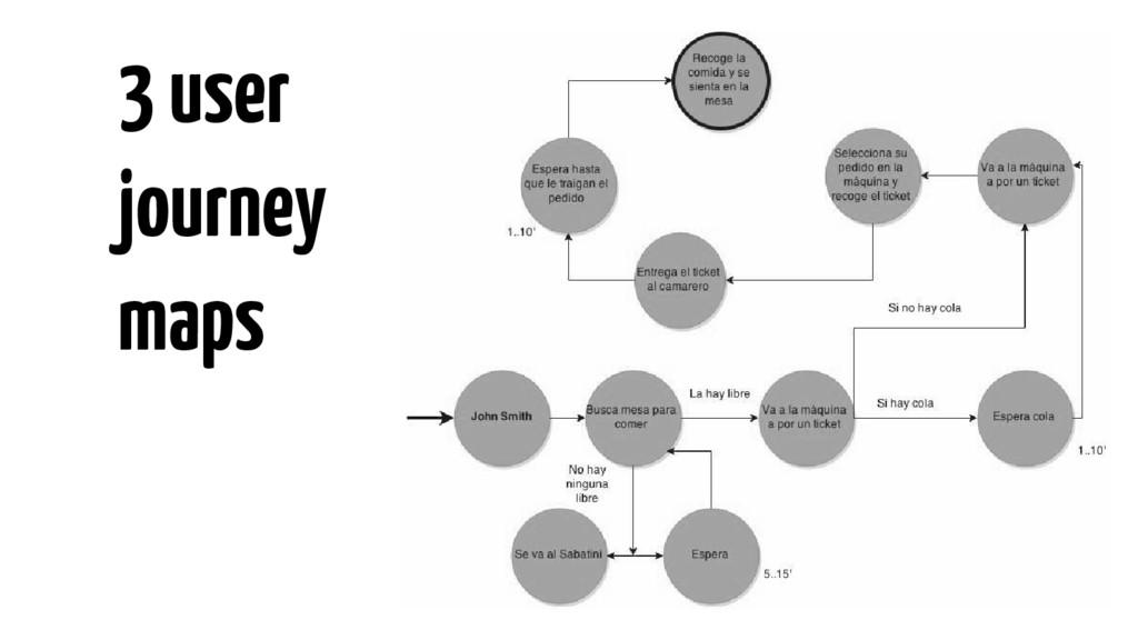 3 user journey maps