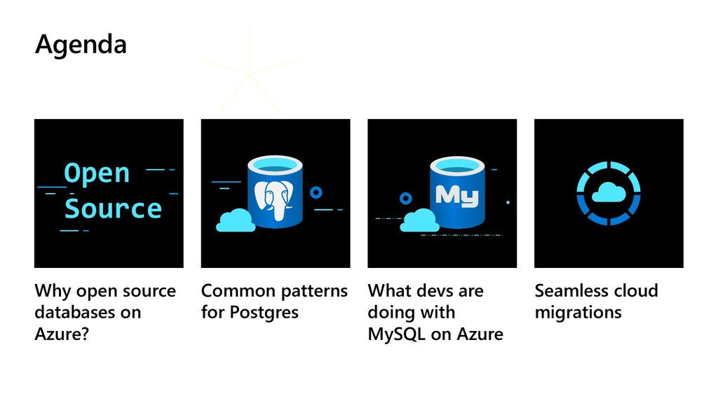 Agenda Why open source databases on Azure? Comm...