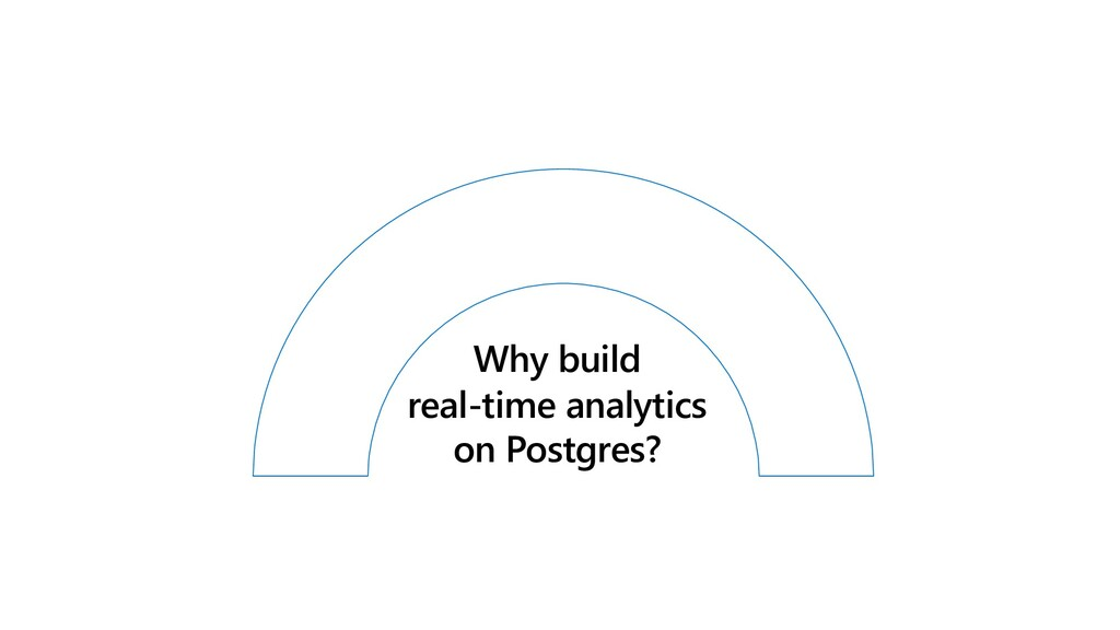 Why build real-time analytics on Postgres?