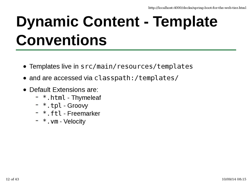 Dynamic Content - Template Conventions Template...