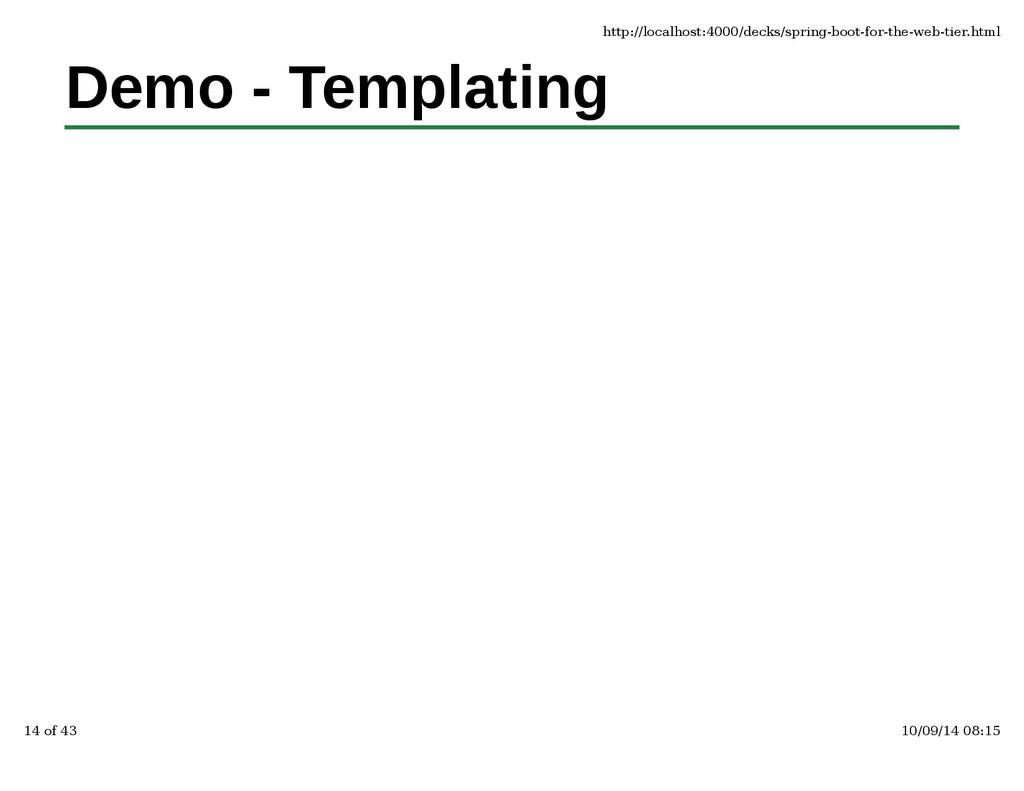Demo - Templatinghttp://localhost:4000/decks/sp...
