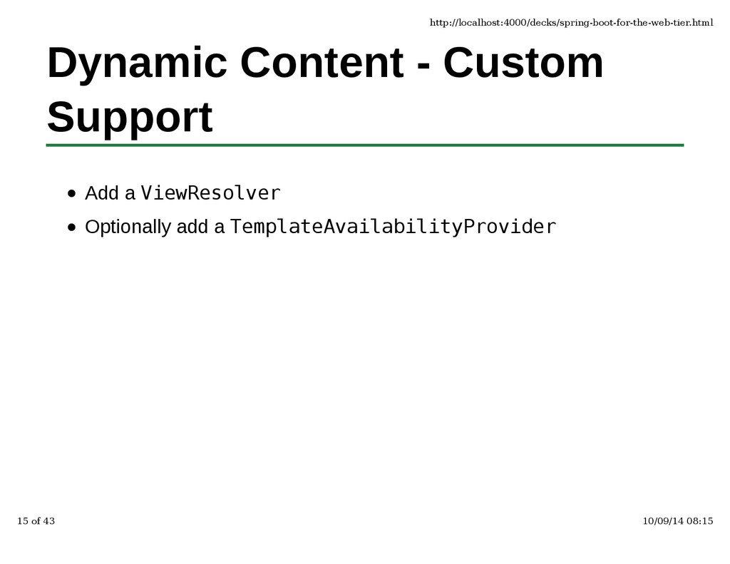 Dynamic Content - Custom Support Add a ViewReso...