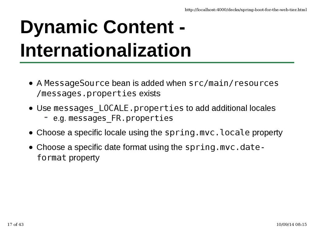 Dynamic Content - Internationalization A Messag...