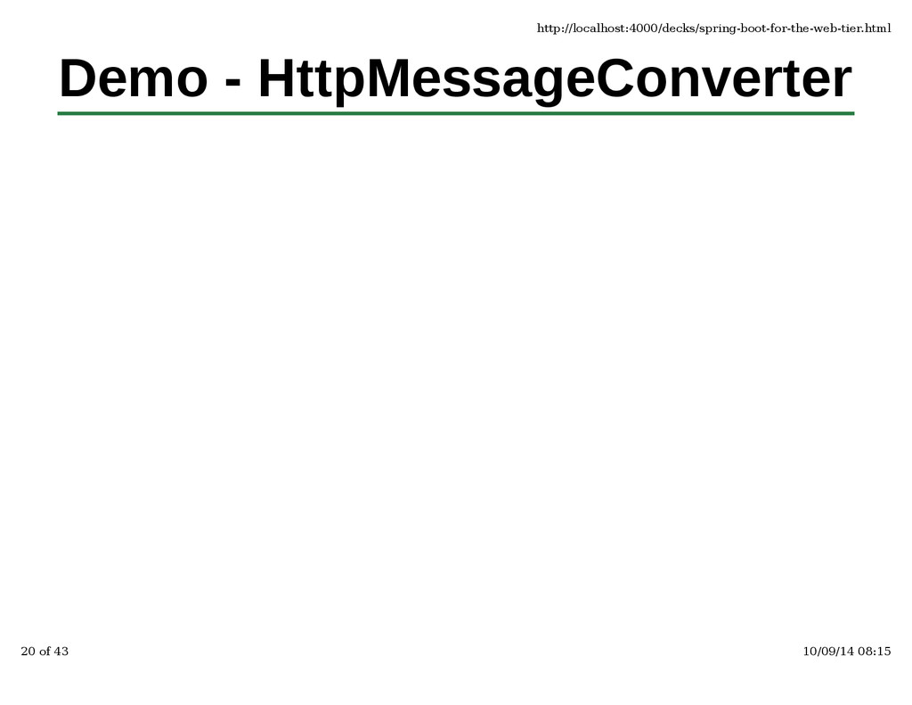 Demo - HttpMessageConverter http://localhost:40...