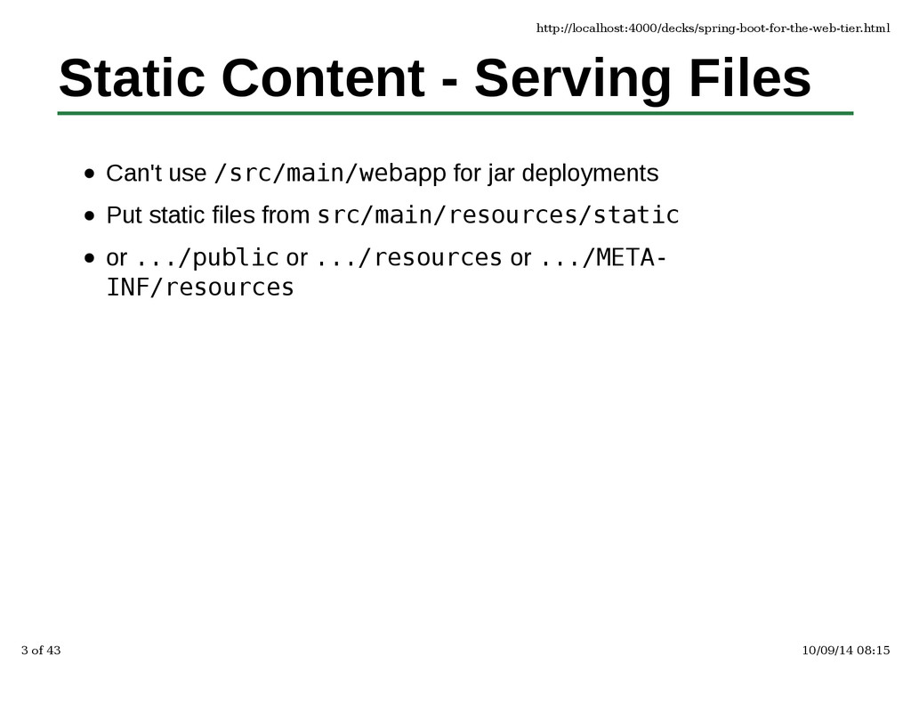 Static Content - Serving Files Can't use /src/m...