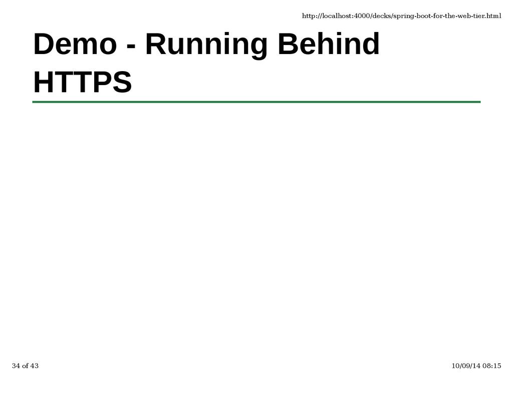 Demo - Running Behind HTTPS http://localhost:40...