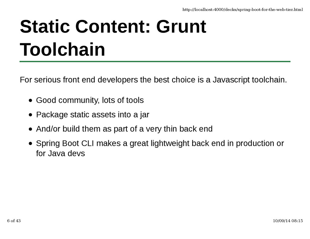 Static Content: Grunt Toolchain For serious fro...