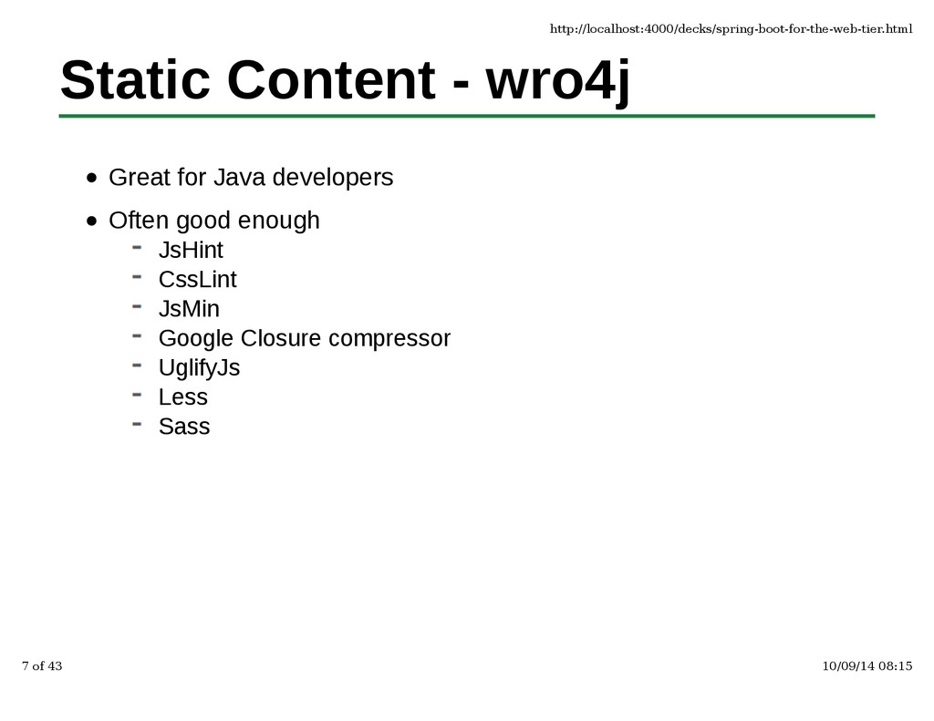 Static Content - wro4j Great for Java developer...