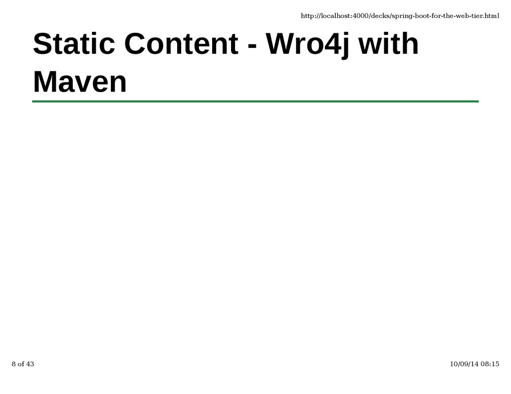 Static Content - Wro4j with Maven http://localh...
