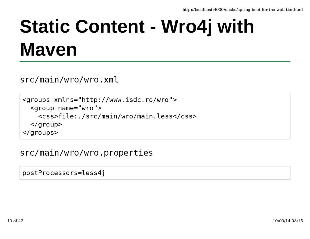 Static Content - Wro4j with Maven src/main/wro/...