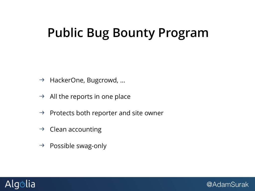 @AdamSurak Public Bug Bounty Program HackerOne,...